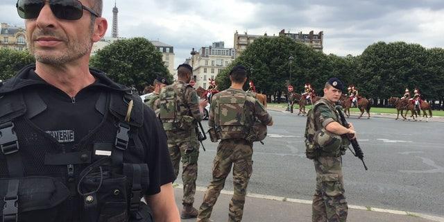 Security outside Les Invalides.