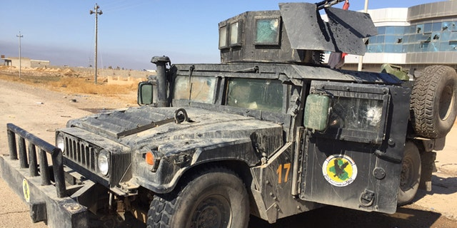 The Iraqi army is going into the heart of the city in heavily armed vehicles.