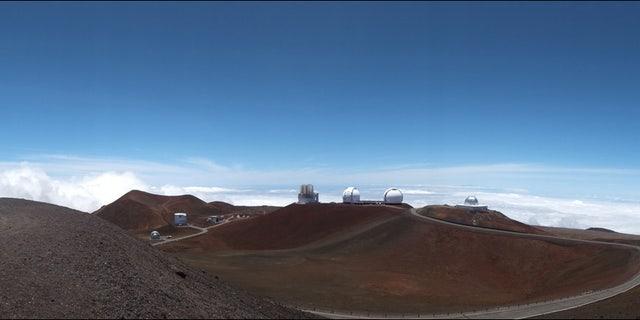 Panorama of the summit of Mauna Kea, which hosts the Subuaru telescope (Subaru Telescope, National Astronomical Observatory of Japan)