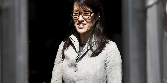 Ellen Pao leaves San Francisco Superior Court Civic Center Courthouse during a lunch break in San Francisco, California March 25, 2015.