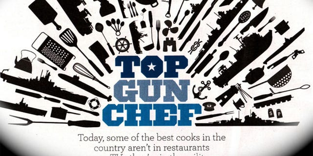 Graphic image used in the May 19 issue of Parade Magazine piece on Derrick Davenport — named Chef of the Year by the Pentagon.