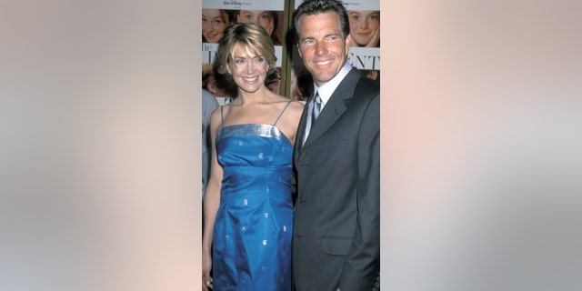 """Richardson and Quaid together at the film premiere of the 'The Parent Trap."""""""