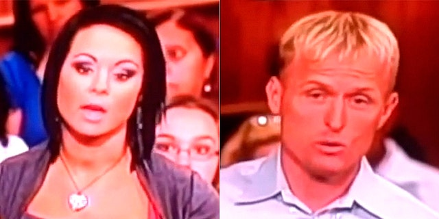 """Michelle Parker, left, disappeared six years ago after an episode aired on """"The People's Court,"""" showing Parker sparring with her ex-fiancé, Dale Smith, right."""