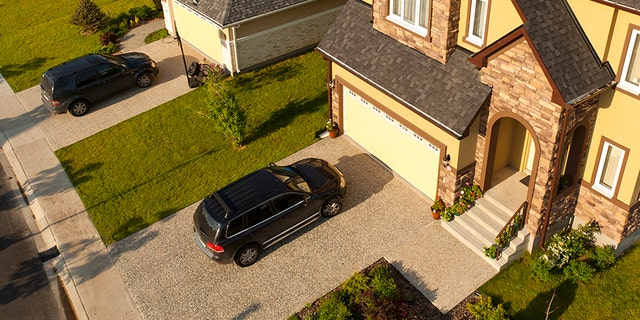 Always park toward the house or a wall. Unless you're more concerned about having your pickup's tailgate stolen, then do it the other way. Better still, just clean out your garage and put the car in there.