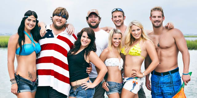 """The cast of """"Party Down South"""" poses for a photo."""