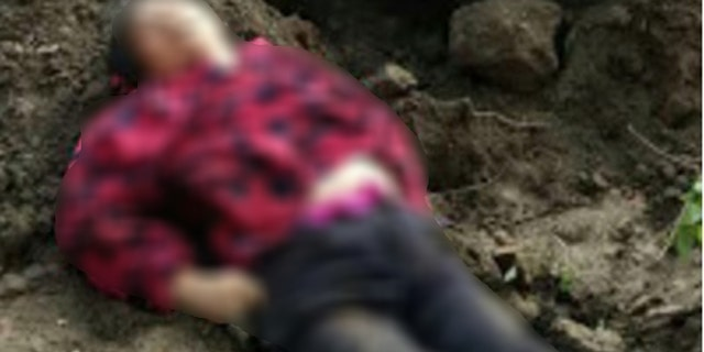 Ding Cuimei suffocated after being buried alive.
