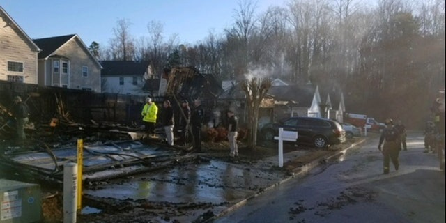 A fire Sunday in Hiram, Ga., destroyed four homes and damaged 16 others, fire officials said.