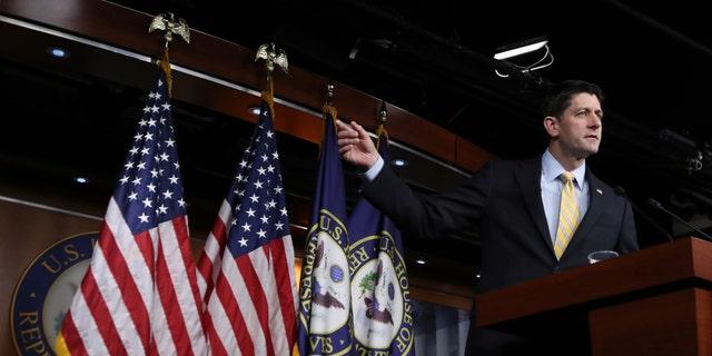 House Speaker Paul Ryan of Wis. speaks during a news conference on Capitol Hill in Washington, Thursday, Jan. 5, 2017. (AP Photo/Manuel Balce Ceneta)