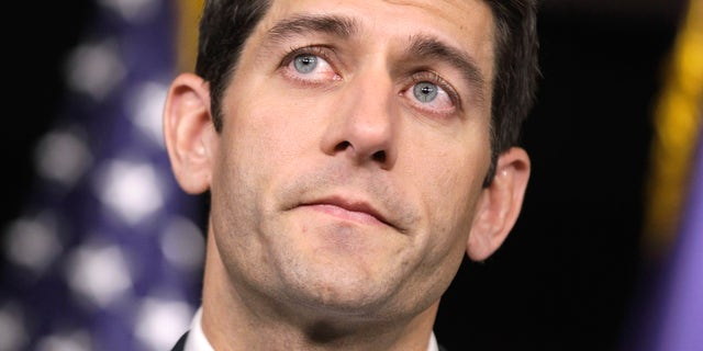 House Budget Committee Chairman Paul Ryan, R-Wis., touts his 2012 federal budget during a news conference on Capitol Hill in Washington, Tuesday, April 5, 2011. (AP)