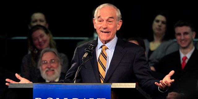 May 13: Rep. Ron Paul gives a speech after announcing his plans to seek the Republican nomination for president in Exeter, N.H.