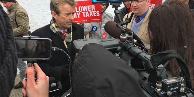 March 15, 2017: Sen. Rand Paul speaks on Capitol Hill.