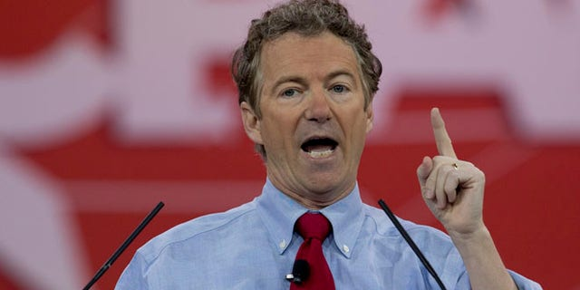 Feb. 27, 2015: Sen. Rand Paul, R-Ky. speaks during the Conservative Political Action Conference (CPAC) in National Harbor, Md. (AP)