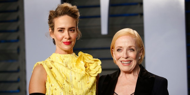 Actresses Sarah Paulson (L) and Holland Taylor have been dating for about two years now.