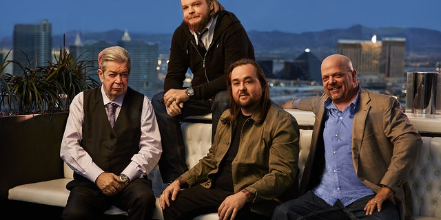 From L-R: 'Pawn Star' cast members Richard Harrison, Corey Harrison, Chumlee Russell and Rick Harrison.