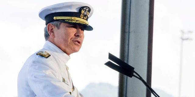 Adm. Harry B. Harris, Jr., Commander, U.S Pacific Command speaks during a commemoration on Wednesday, Dec. 7, 2016 at Kilo Peir in Honolulu. Survivors of the Japanese attack, dignitaries and ordinary citizens attended a ceremony at Kilo Pier to commemorate the 75th anniversary of the Japanese attack on the naval harbor. (Craig T. Kojima/The Star-Advertiser via AP, Pool)