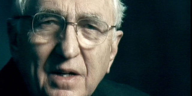 Shown here is Edward Peck, former U.S. ambassador to Mauritania, in a scene from an anti-war TV commercial in 2003. (AP Photo)