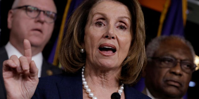 FILE: House Minority Leader Nancy Pelosi addresses the media last week. She has been criticized over her recent comment on immigration.