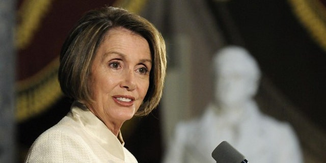 House Speaker Nancy Pelosi addresses a ceremony commemorating the 60th anniversary of the Korean War at the U.S. Capitol June 24. (Reuters Photo)