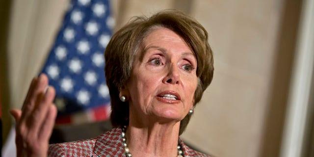 Nov. 29, 2012: House Minority Leader Nancy Pelosi speaks to reporters at the Capitol in Washington.