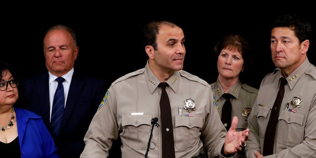 Maricopa County Sheriff Paul Penzone announces that he's shutting down a complex of jail tents Tuesday, April 4, 2017, in Phoenix.