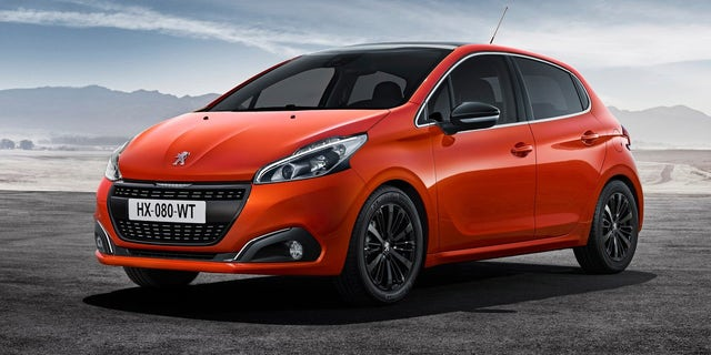 The Peugeot is a popular subcompact car in the U.K.