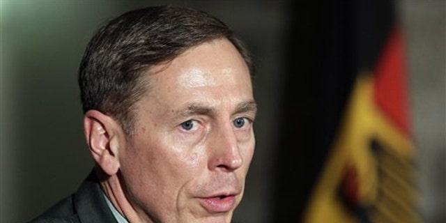 FILE: Gen. David Petraeus speaks on Nov. 23.
