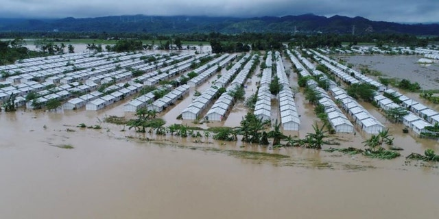An aerial view of the flooded areas at Tzu Chi VIllage in Barangay Liloan, Phillipines, December 17, 2017 in this picture obtained from social media.