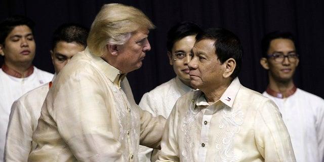 President Trump and Rodrigo Duterte met during the conference.