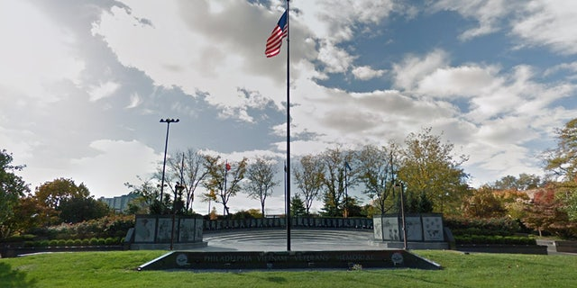 A body has been found at the veterans' memorial in Philadelphia.