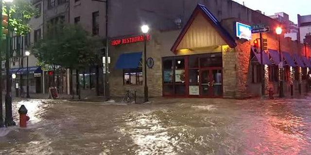 July 3, 2018: A water main break is flooding the streets of Philadelphia.