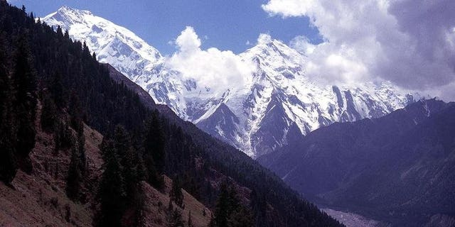 The Nanga Parbat mountains in northern Pakistan in 2003. Gunmen shot dead at least nine foreign tourists overnight at a base camp there.