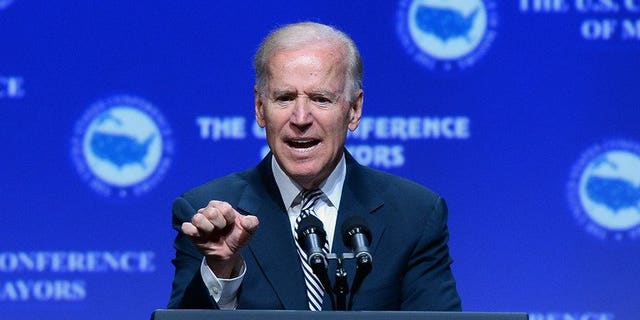 US Vice President Joe Biden speaks at the 81st annual US. Conference of Mayors at the Mandalay Bay Convention Center in Las Vegas, on June 21, 2013. Biden will travel to India next month in what will be the highest level visit by an American official for three years, Secretary of State John Kerry has said on a trip to New Delhi.