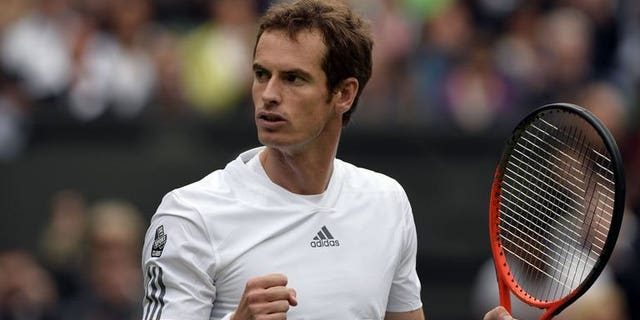Britain's Andy Murray on day one of the 2013 Wimbledon Championships at the All England Club in London, on June 24, 2013. Murray insists he didn't celebrate Rafael Nadal's stunning exit from Wimbledon even though the Spaniard's loss is a major boost to the world number two's title challenge.