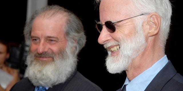 Robert Fowler (R), UN special envoy to Niger, and his assistant Louis Guay are pictured in Bamako, Mali, on April 23, 2009, after they were released by Al-Qaeda-linked captors after months as hostages. Canada lodged charges on June 26, 2013, against Mohktar Belmohktar, former head of Al-Qaeda in the Islamic Maghreb (AQIM), for his role in the kidnapping of the two diplomats five years ago.