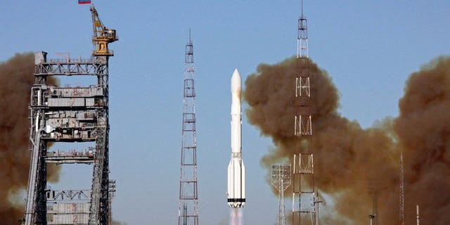 Image taken on December 5, 2010 shows a Proton-M rocket blasting off from the Baikonur cosmodrome in Kazakhstan. Russia is suspending the launches of Proton rockets after an unmanned rocket carrier exploded on takeoff this week, a source on the cosmodrome said Thursday.