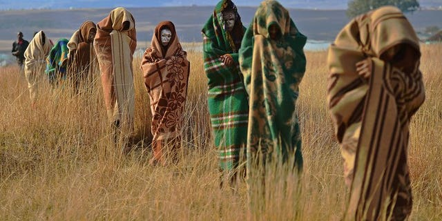 Boys from the Xhosa tribe who have undergone a circumcision ceremony are pictured near Qunu, South Africa, on June 28, 2013. Botched circumcisions killed 30 young men and landed almost 300 more in hospital during traditional initiation rites in a South African province, the health department said Sunday.