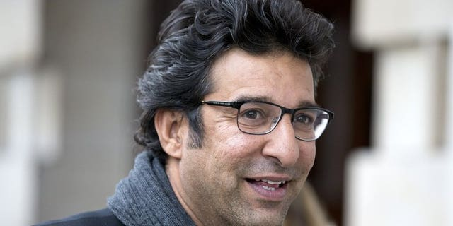 Former Pakistan cricketer Wasim Akram arrives at a memorial service for the South African-born former England cricket captain Tony Greig, at Saint Martin-in-the-fields church in central London on June 24, 2013. Akram said Monday he will marry his Australian girlfriend, who has converted to Islam and will settle in his home country.