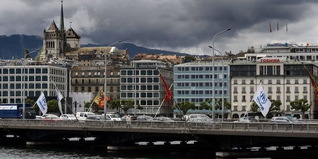 A view of central Geneva, seen on June 14, 2013. Switzerland says it has paid Britain and Austria hundreds of millions of Swiss francs under a deal to settle past tax-dodging by their citizens.