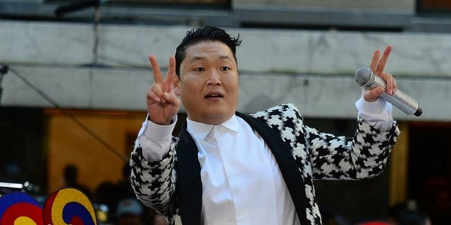 """South Korean singer Psy performs on the """"Today Show"""" at Rockefeller Plaza in New York, on May 3, 2013. Psy plans to release a new album in September and says he has already recorded three songs for the project."""
