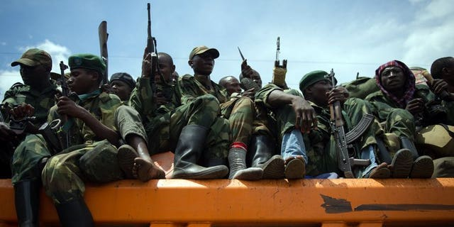Democratic Republic of Congo's M23 rebels withdraw from the city of Goma, in the east of the country on December 1, 2012. The group has warned it would not rule out recapturing Goma if Kinshasa failed to stand by its international commitments.