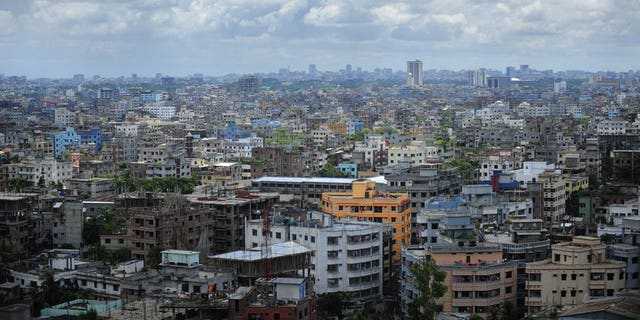 A general view of the Bangladeshi capital city Dhaka on September 20, 2010. Canada will shutter its mission in Dhaka on Sunday, a spokesman said, citing security reasons amid global concern over terror threats.