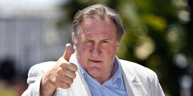 Veteran French actor Gerard Depardieu, pictured in Nice, France on June 6, 2013, is shooting a film in Paris for the first time since he sparked a huge outcry by leaving France for tax reasons and taking Russian nationality.