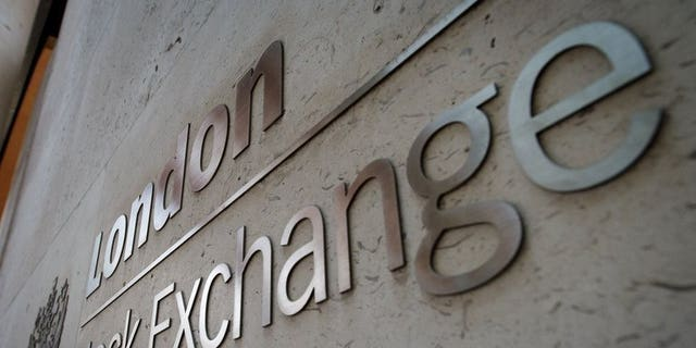 View of the entrance to the London Stock Exchange on March 7, 2013. London equities lost ground Monday as wary investors were spooked by low growth figures from Japan and renewed fears of yet another Greek bailout, dealers said.