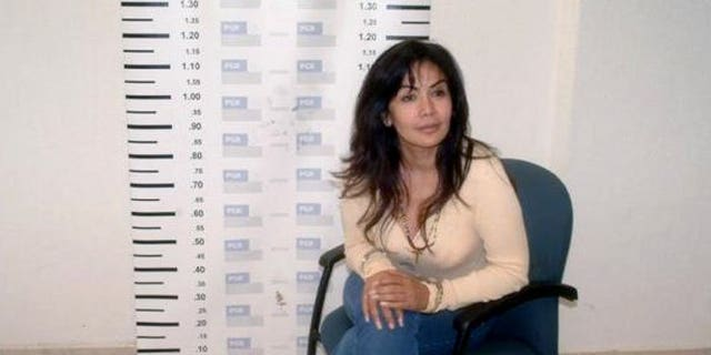 """A mug shot of Sandra Avila Beltran, also known as the """"Queen of the Pacific,"""" taken upon her arrest in Mexico City on September 28, 2007. The """"Queen of the Pacific"""" for her links to drug trafficking returned home Tuesday to face money laundering charges after the United States deported her."""
