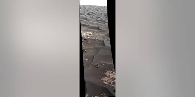 """The rippled surface of the first Martian sand dune ever studied up close fills this Nov. 27, 2015, view of """"High Dune"""" from the Mast Camera on NASA's Curiosity rover. (NASA/JPL-Caltech/MSSS)"""