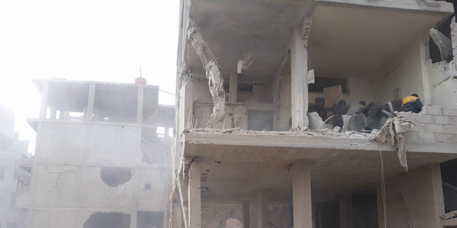 The search for suvivors in war-torn Eastern Ghouta, Syria this week.