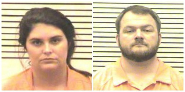 Charlie Jones Parker, left, and her husband James Franklin Parker, right, stand accused of sexually assaulting underage students at a private Christian school.