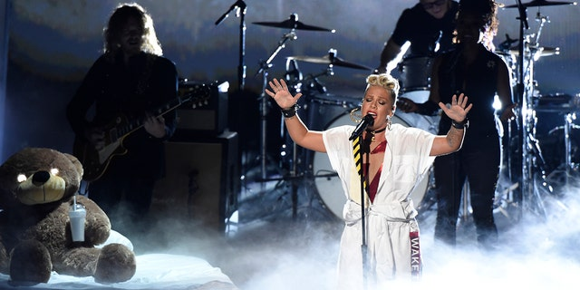 Pink also performed at the 2017 VMAs.