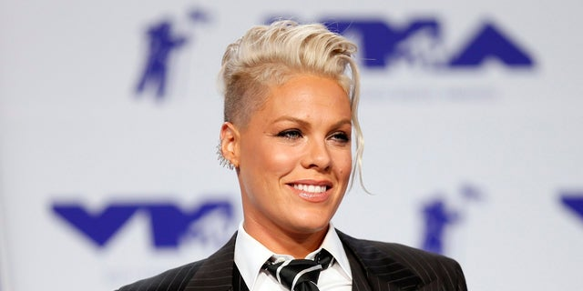 Pink will perform at the Grammys on Sunday in New York City.