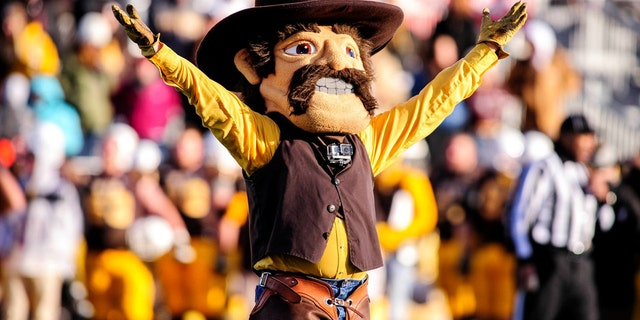 Pistol Pete is the cowboy mascot of the University of Wyoming.